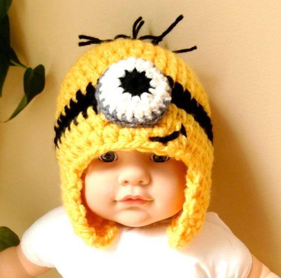 Despicable Me sbires Hat Crochet Beanie oreille par JadeExpressions