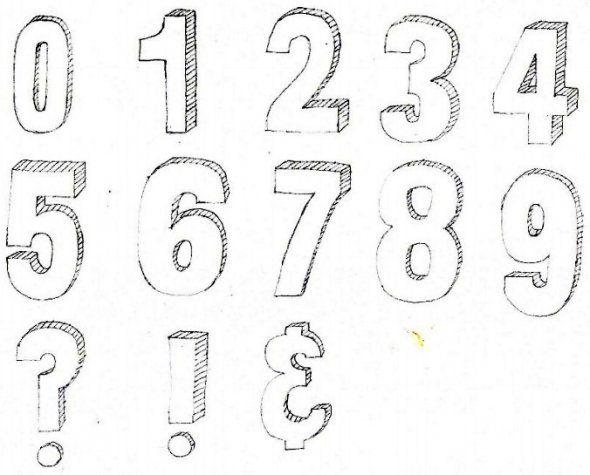 Image Result For 3d Letters Sketch Lettering Bubble Letters
