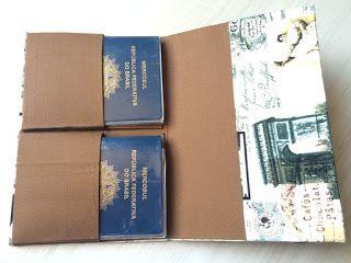 VicaLima Bolsas: Porta Passaporte feito com caixas de leite