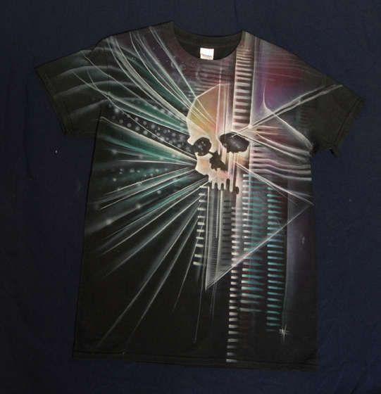 skull hand-painted tshirt