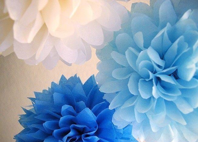 Something Blue Bridal Shower Decor