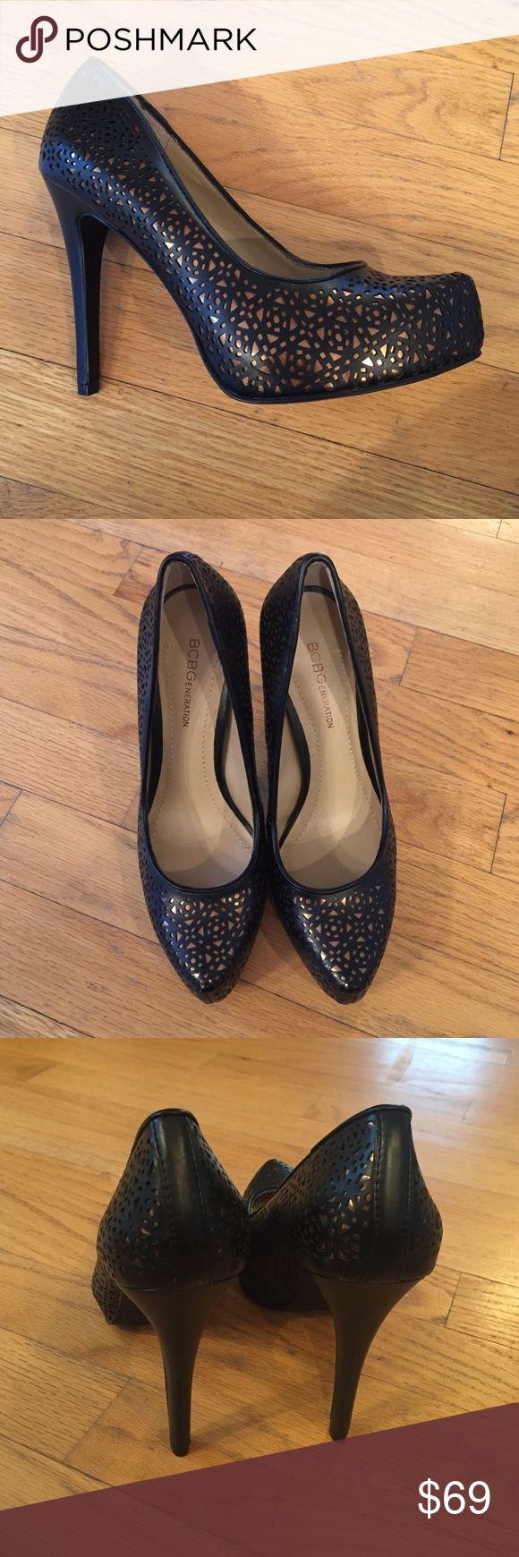 Fantastic BCBG Platform Black and Gold Pumps Brand new black and gold high heels. BCBGeneration Shoes Heels