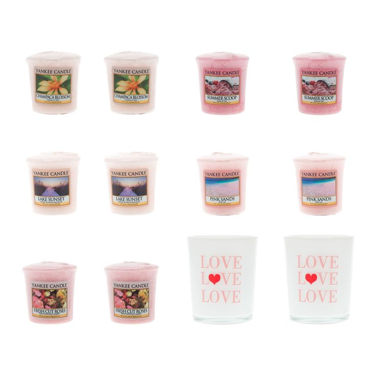 Yankee Candle Lui e Lei, set di 10 candele piccole con 2 portacandela che puoi scegliere tra due varianti: Lui oppure Lei.