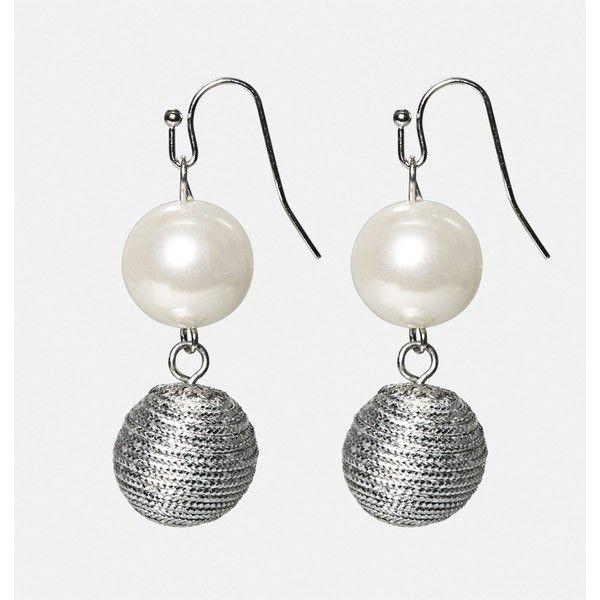 Avenue Pearl Metal Drop Earrings ($10) ❤ liked on Polyvore featuring jewelry, earrings, plus size, silver, metal earrings, pearl earrings, white pearl drop earrings, pearl jewellery and artificial jewellery
