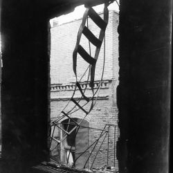 Photograph of a Broken Fire Escape after the Triangle Shirtwaist Factory Fire