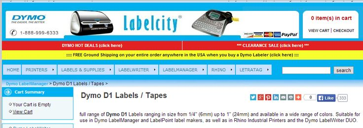 Dymo D1 Labels / Tapes