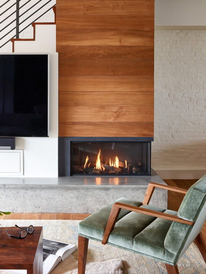 Two Sided Gas Fireplace With Modern Trimless Look Corner Fireplace Living Room Gas Fireplace Ideas Living Rooms Corner Gas Fireplace