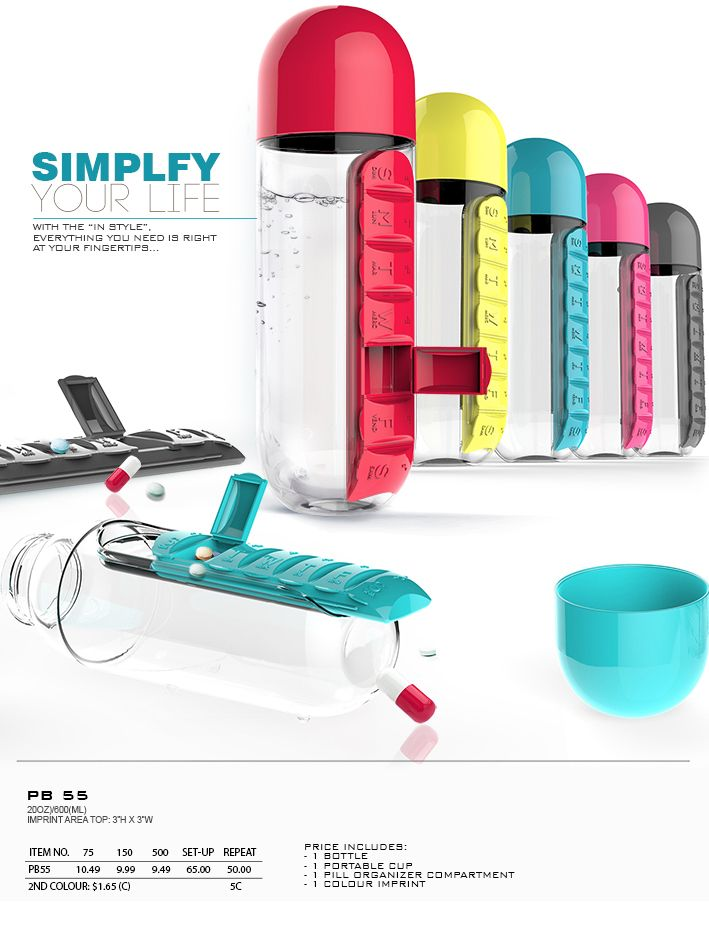 1000 ideas about promotional water bottles on pinterest for Pill bottle storage rack