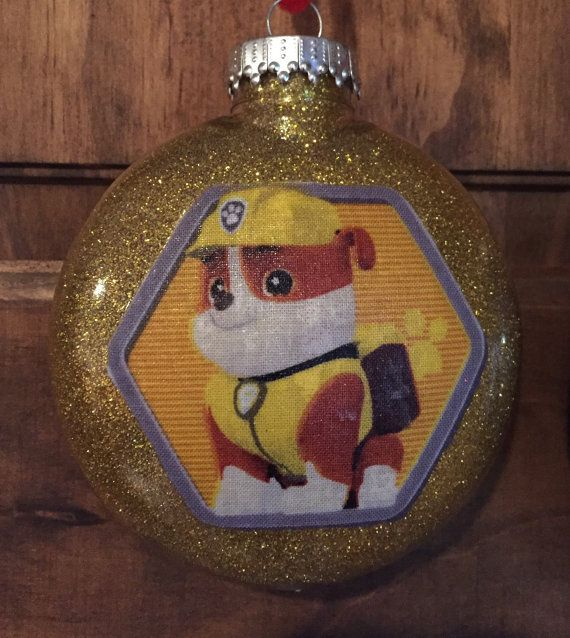 Rubble Paw Patrol Christmas ornament by kits257 on Etsy