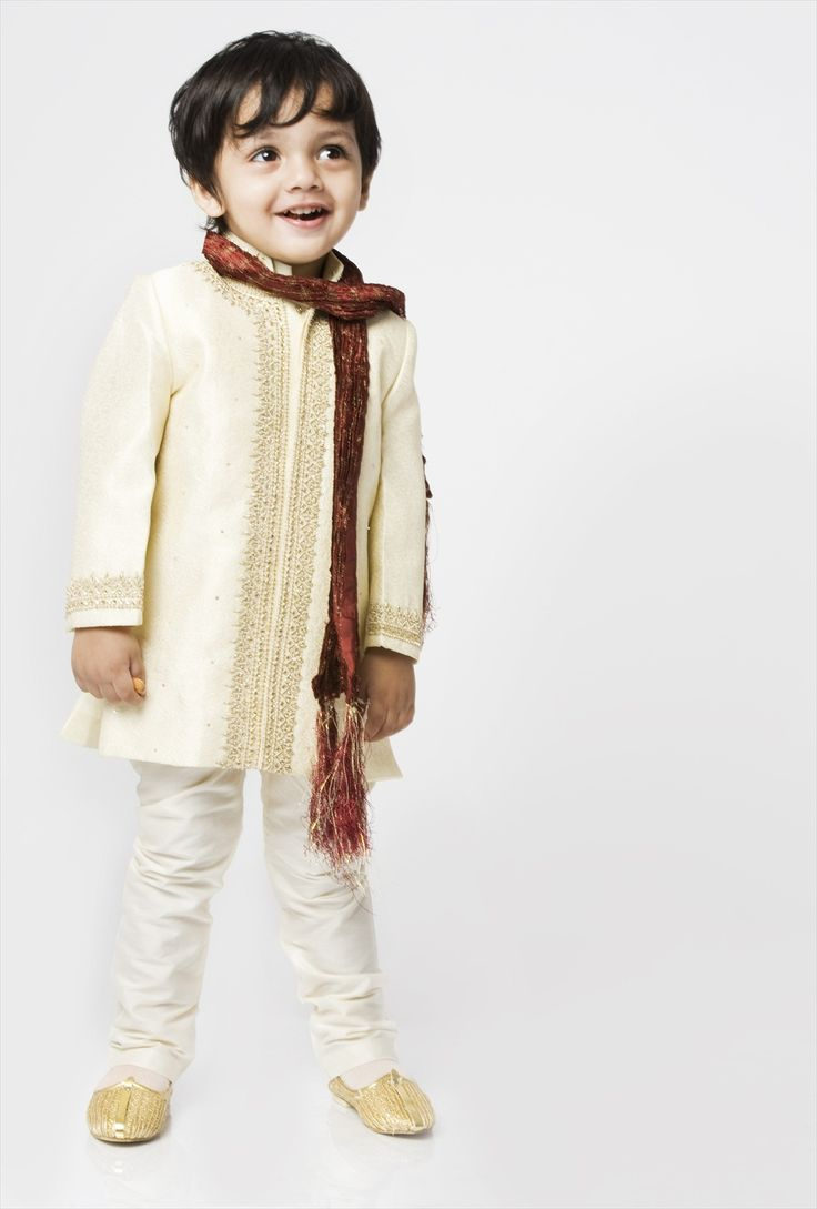 Elegant embroidery sherwani by Akriti is the perfect outfit for your son on any Indian grand occasion. The intricate work, detailing and colours call for a joy filled celebration. #catwalkonrent