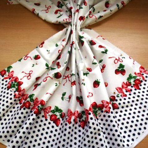Strawberry Gateaux Cotton Fabric
