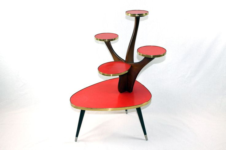 Fifties plant table / flower table / plant stool - rarity
