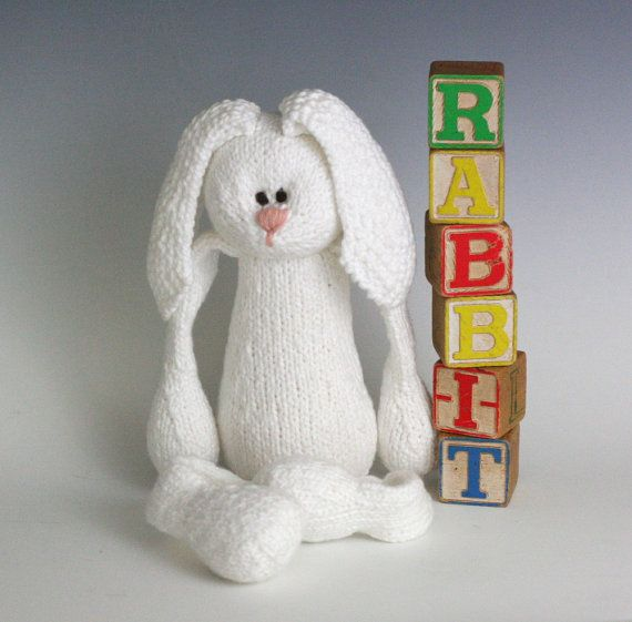 R is for Rabbit  PDF Knitting Pattern for a Stuffed by yarnmiracle, $5.00