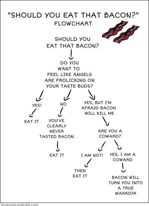 Bacon will turn you into a true warrior...