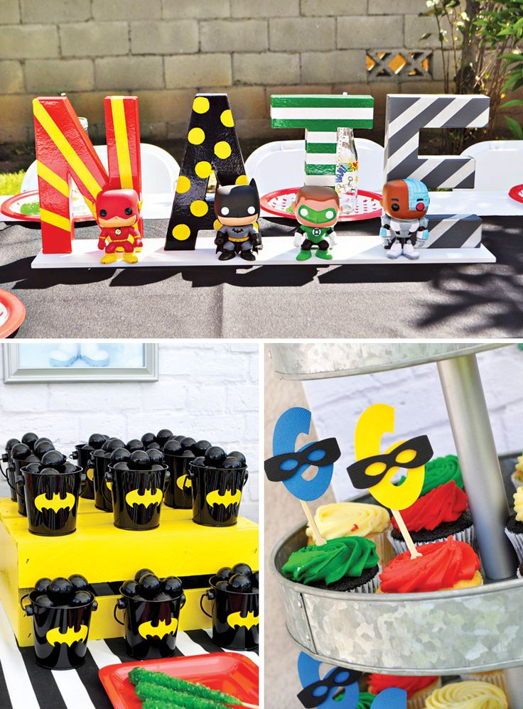 POP+Heroes+Justice+League+Birthday+Party
