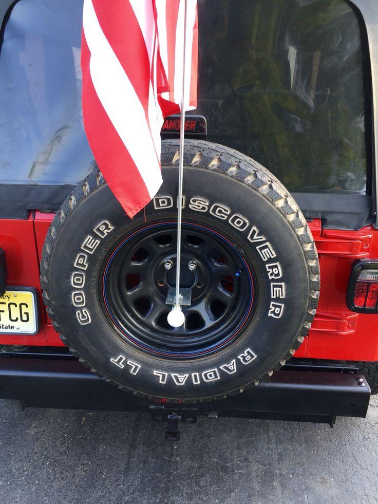 Truck Trailer Hitch >> # jeep #flagpole #jeeptj #diy #America | Diy jeep, Jeep tj, Flag pole