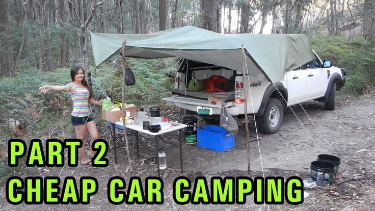 cheap diy car camping setup part 2 dirt road campsite camping truck topper pinterest. Black Bedroom Furniture Sets. Home Design Ideas