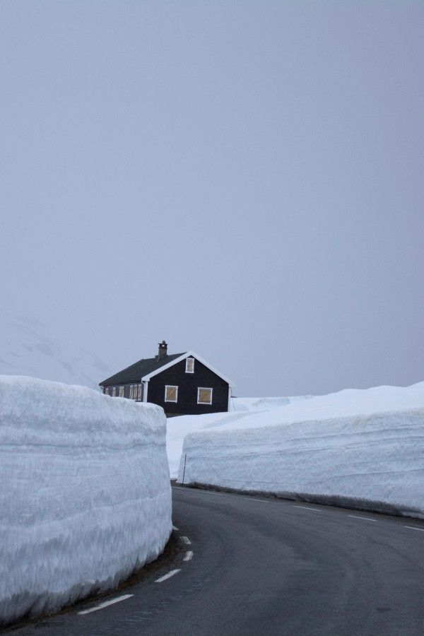 SEASONAL – WINTER – a new-fallen snow appears so peaceful, but still gives me the chills, especially when you wake up to see snow walls around your home in trollstigen, norway, photo via hispotion.