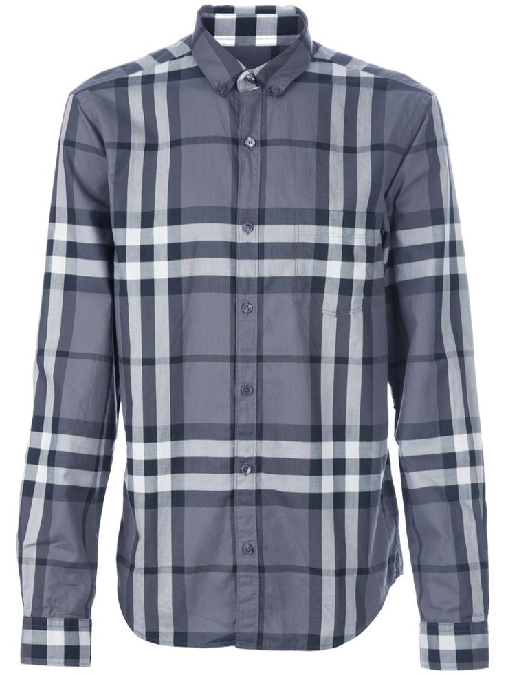 BURBERRY Checked Shirt. #burberry #cloth #printed shirts