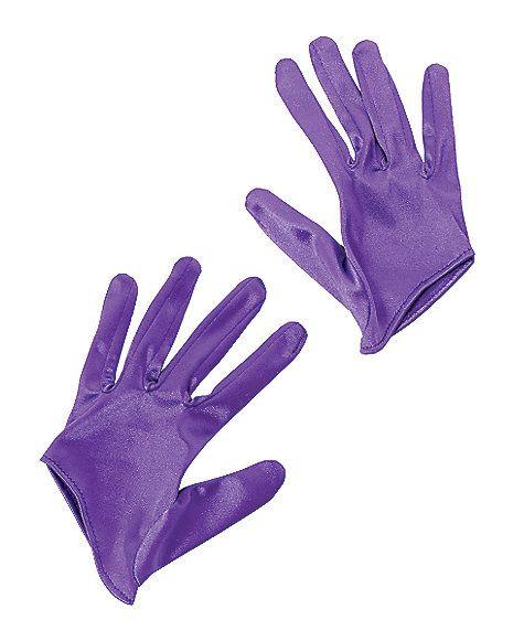 Short Purple Gloves - Spirithalloween.com