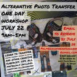 events.palmbeachculture.com | Alternative Photo Transfer Workshop