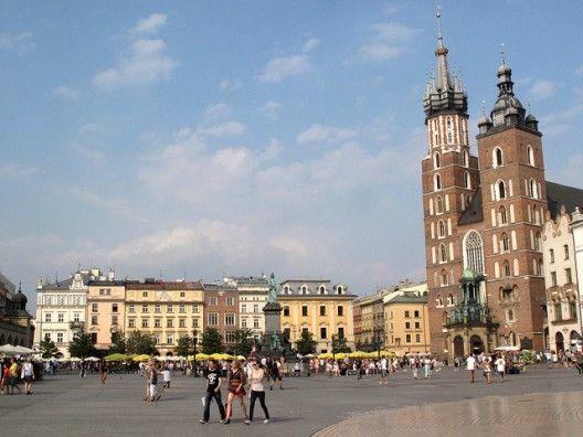 #Plaza del Mercado de Cracovia, Polonia