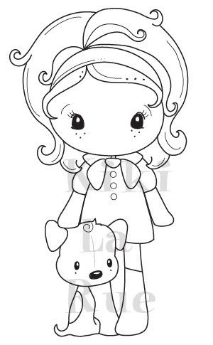 "C.C. Designs Kiki La Rue """"Puppy Kiki"""" Rubber Stamp"