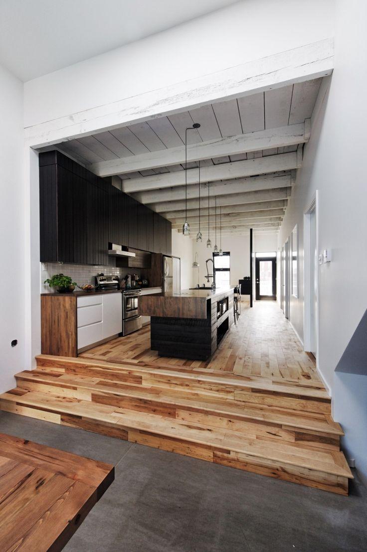 Aménagement cuisine blanche, noire et bois- 30 idées cool