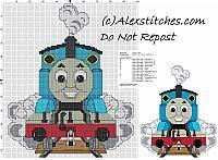 Thomas and friends cross stitch pattern