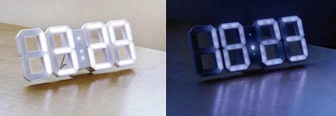 数字だけを部屋に配置できるLEDライト式デジタル時計「White & White」 - GIGAZINE