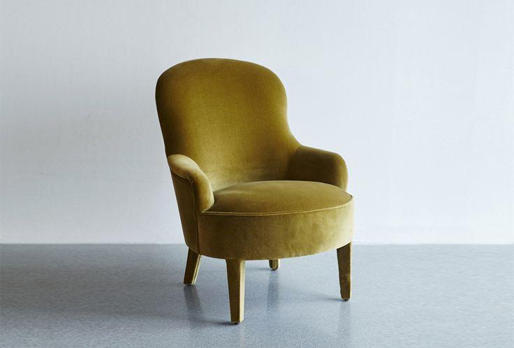 Velvet Olive Armchair from Artilleriet