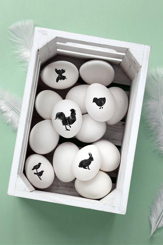Simple black print eggs