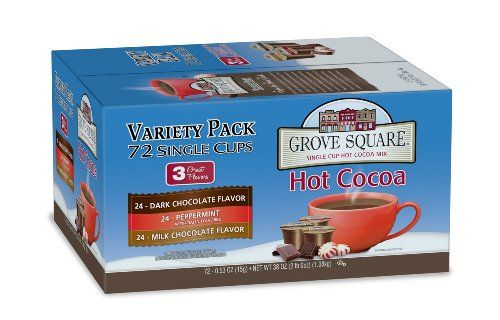 Grove Square Hot Cocoa Variety Pack, 72-Count Single Serve Cup for Keurig K-Cup Brewers - http://hotcoffeepods.com/grove-square-hot-cocoa-variety-pack-72-count-single-serve-cup-for-keurig-k-cup-brewers/
