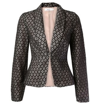 Ricki's: pleated lace overlay blazer — Visit Ricki's at Windsor Crossing: http://www.windsorcrossing.com/stores/rickis #SportYourUltimateMothersDay