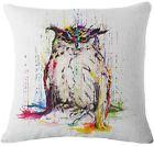 New Fashion Owl Linen Pillow Case Throw Cushion Pillow Cover Home Sofa Decor