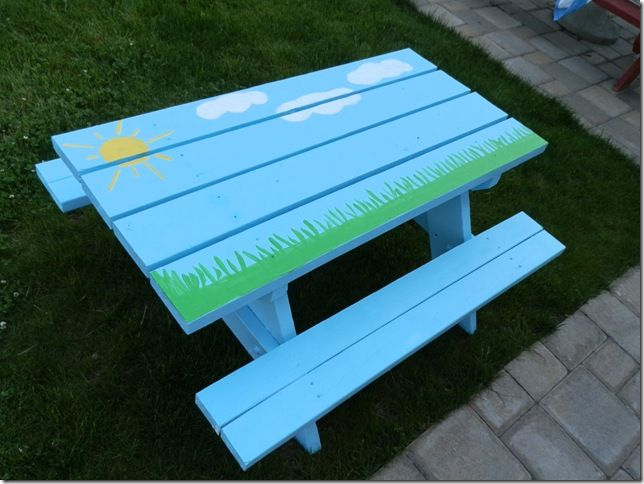 1000 Images About Picnic Table Ideas On Pinterest Sky