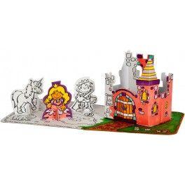 Set princesse en carton à assembler et à colorier