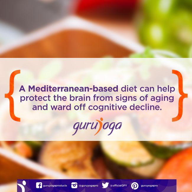 A Mediterranean-based diet can help protect the brain from signs of aging and ward off cognitive decline.