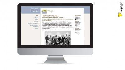 Gruppenpraxis Zelgli, Madiswil, Flexipage, Webdesign, Internetauftritt