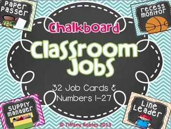 $3 Chalkboard Classroom Jobs