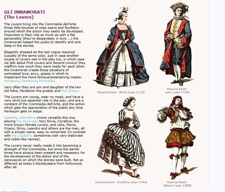 Create a Commedia Dell'Arte Character