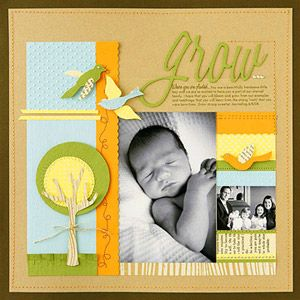 Great layout for baby photos.