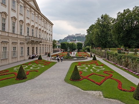 """Mirabell Palace in Salzburg, Austria  Famous scene in the """"Sound of Music""""  Mirabell Gardens (est 1606)Famous Scene, Estes 1606, Austria Famous, Favorite Places, Angie'S Group, European Spots, Future Travel, Gardens, Favorite European"""