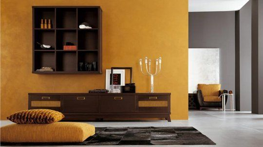 Paint Color Portfolio: Mustard Living Rooms