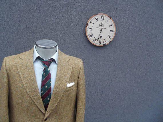 1940s Vintage Tweed Jacket / Flecked Tweed Blazer Jacket /