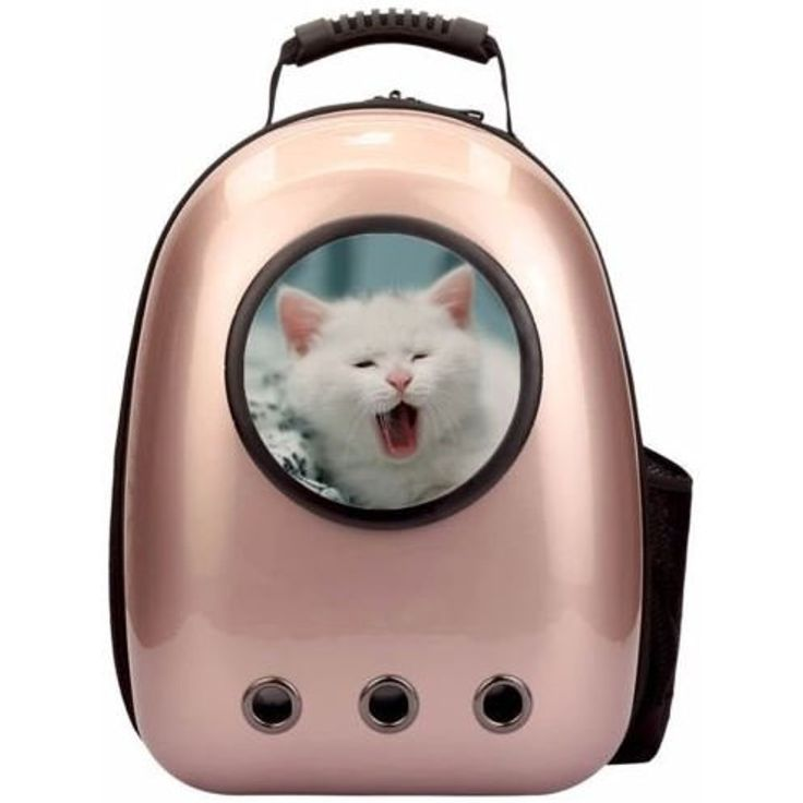K&A Company Astronaut Pet Cat Dog Puppy Carrier Travel Bag Space Capsule Backpack Breathable in Pink ~~~ You can click on the image for additional details. (This is an affiliate link and I receive a commission for the sales)