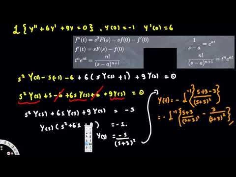 solve differential with laplace transform, sect 7.5#3