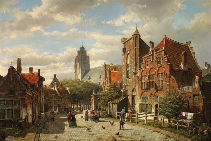 A DUTCH STREET, BY WILLEM KOEKKOEK