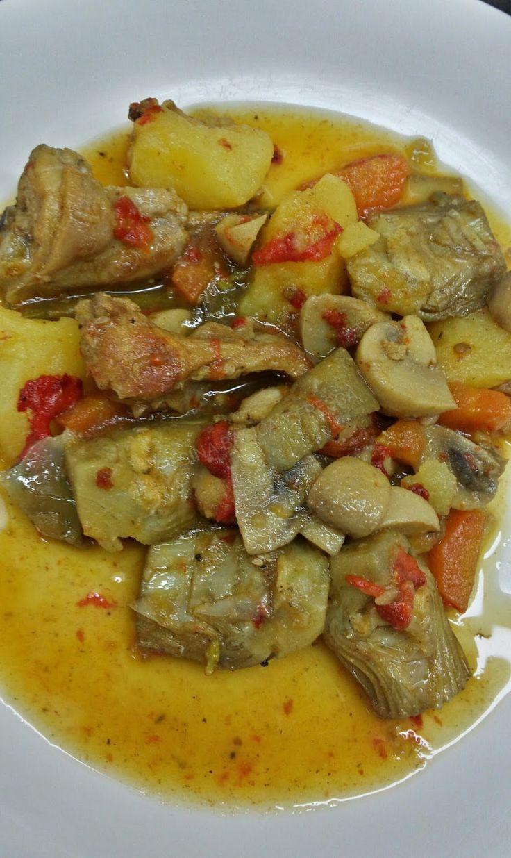 estofado de conejo con verduras