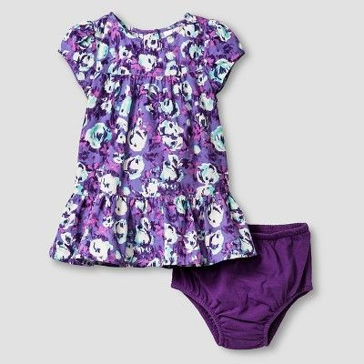 Baby Girls' Dress and Cropped Cardigan Baby Cat & Jack - Purple/Almond Cream 18M, Infant Girl's, Size: 18 M, Beige